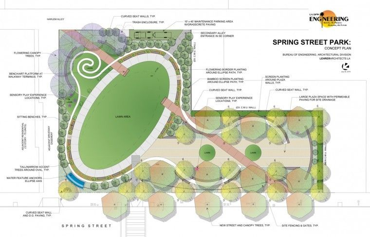 Spring Street Park Concept Plan How To Plan Landscape Design