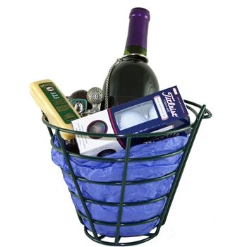 19th hole wine gift basket for the golf and wine lover in your hole wine gift basket a golfers easter basket negle Images