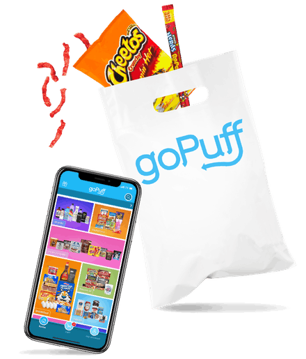 goPuff Convenience Store Delivery App Snack Delivery