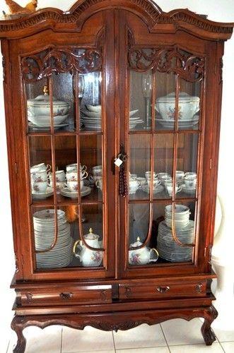 Vintage Antique Display Cabinet Gl In Sydney Nsw Ebay