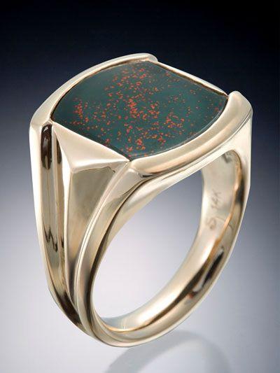 Mens Diamond Sterling Silver Pinky Rings