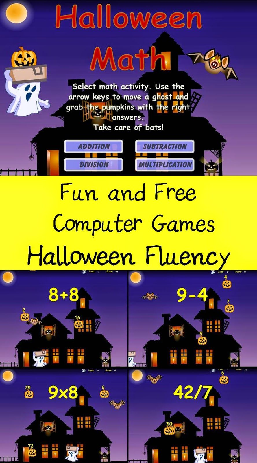The Elementary Math Maniac Fun and Free Computer Games