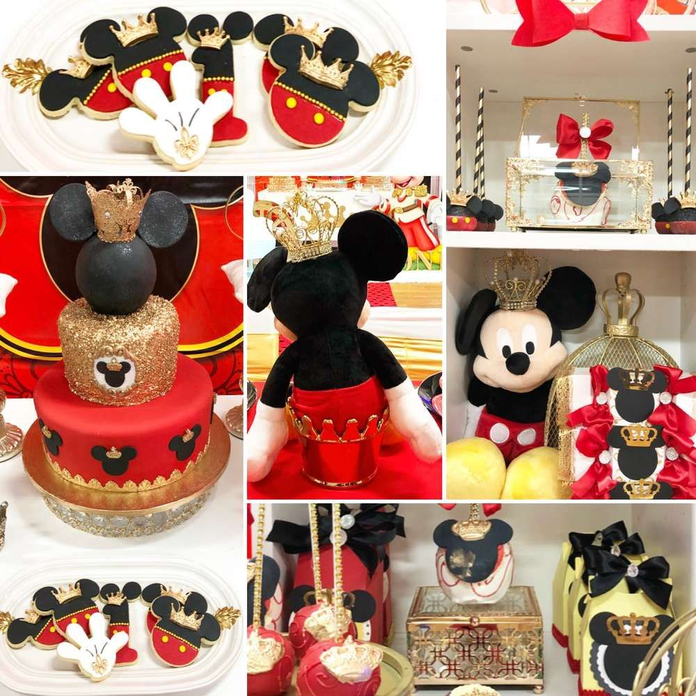 Mickey Mouse Royal King Birthday Party Ideas Baby Shower De Mickey Mouse Cumpleanos De Mickey Mouse Fiesta De Mickey Mouse