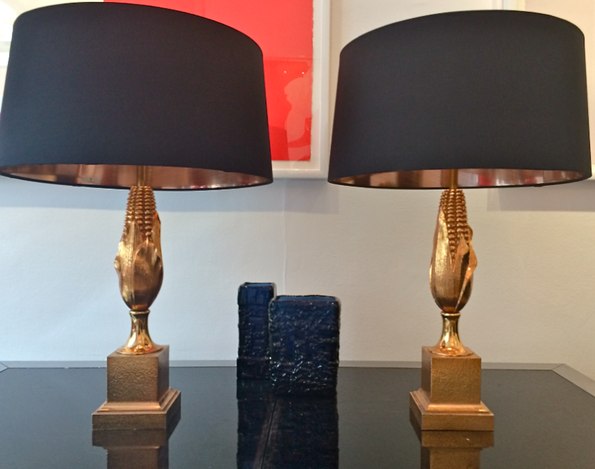 Pair Of Maison Charles Table Lamps In Gilt Finish Vinterior London