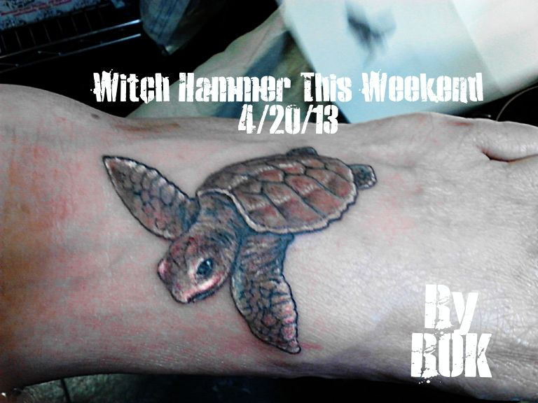 e52f00276866b Baby sea turtle tattoo by ~WitchHammerTattoo on deviantART | Bok ...