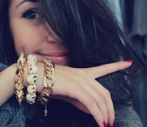 Dimples and arm candy
