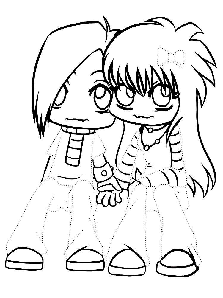 Раскраски для мальчиков и девочек с аниме | Раскраски ...