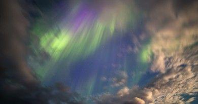 Auroras boreales desde un avión sobre el Atlántico Norte | El Universo Hoy