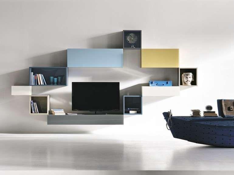 Mobili sospesi in soggiorno in home tvs