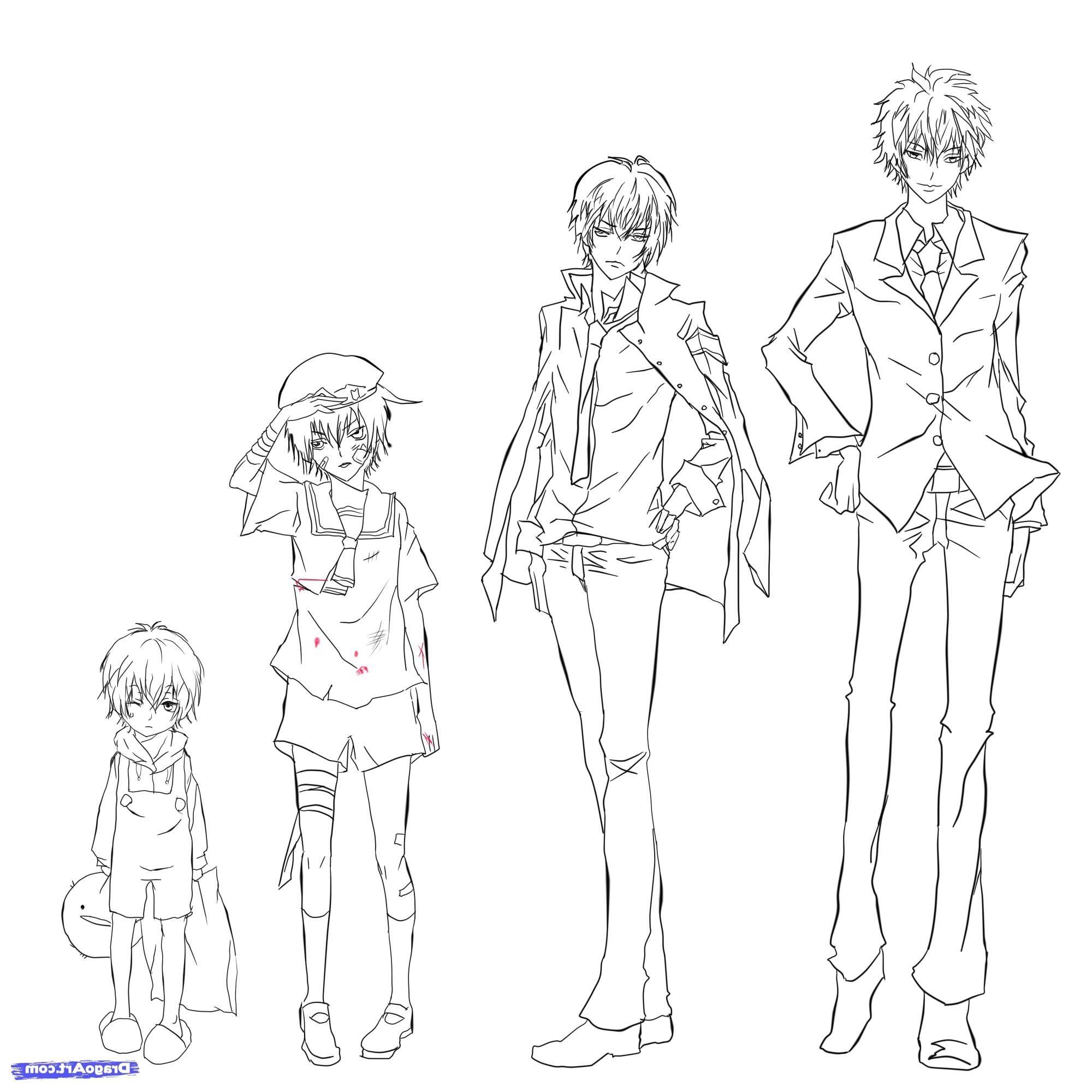Image Result For Full Body Reference Anime Drawing Tecnicas De Desenho Desenho