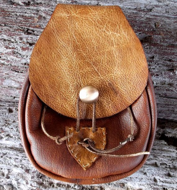 Mountain Man Belt Bag Sporran Style Tool Pouch Renaissance Faire Belt Bag