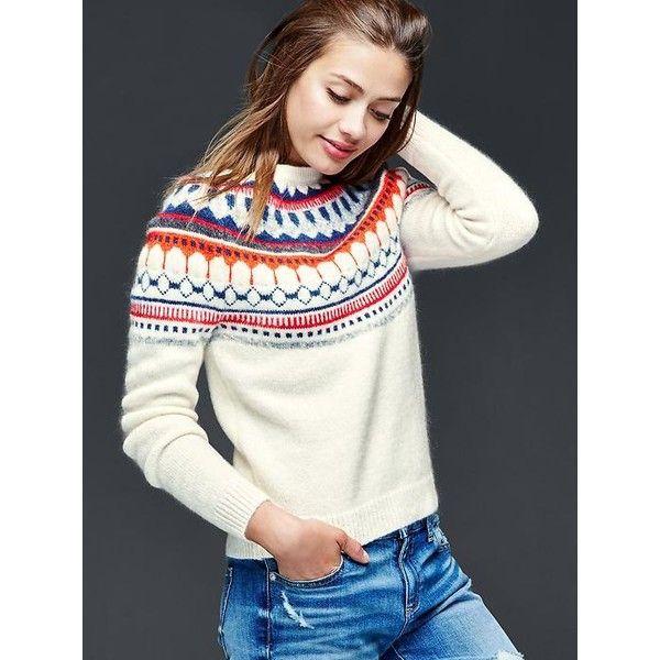 Gap Women Circular Fair Isle Sweater ($60) ❤ liked on Polyvore ...