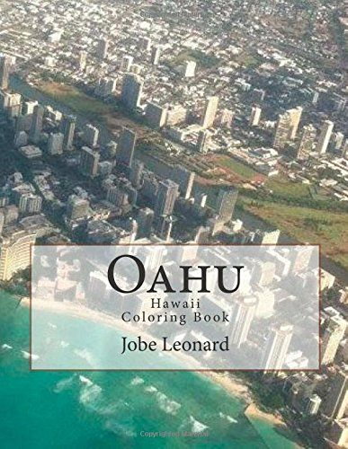 oahu hawaii coloring book color your way through tropical oahu hawaii by jobe - Hawaii Coloring Book