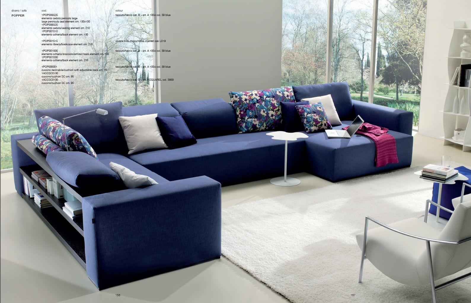 Popper Sofa Bontempi Divani sofas shelves (With images