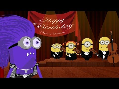 les minions joyeux anniversaire happy birthday song dr le dessin anim youtube annif. Black Bedroom Furniture Sets. Home Design Ideas