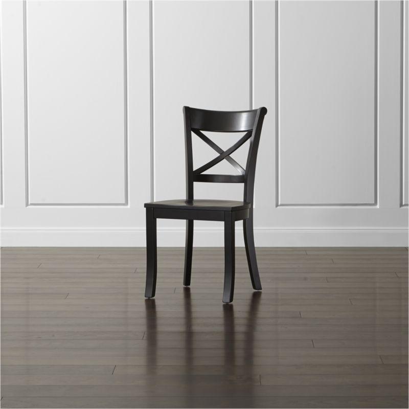 Vintner Red Wood Dining Chair: Vintner Black Wood Dining Chair