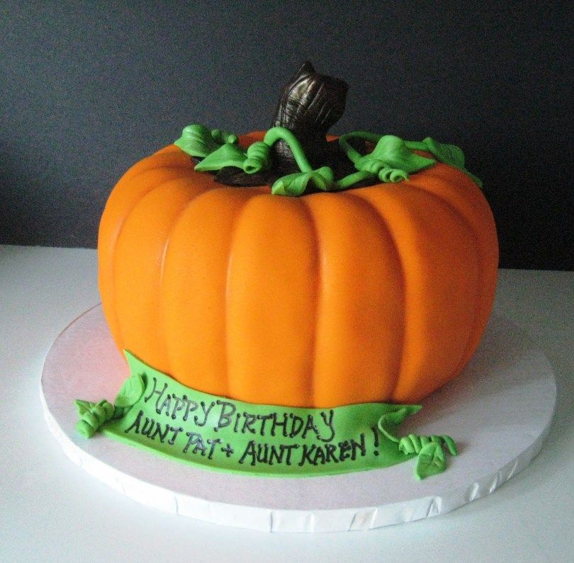 Fantastic 25 Excellent Image Of Pumpkin Birthday Cake With Images Funny Birthday Cards Online Alyptdamsfinfo