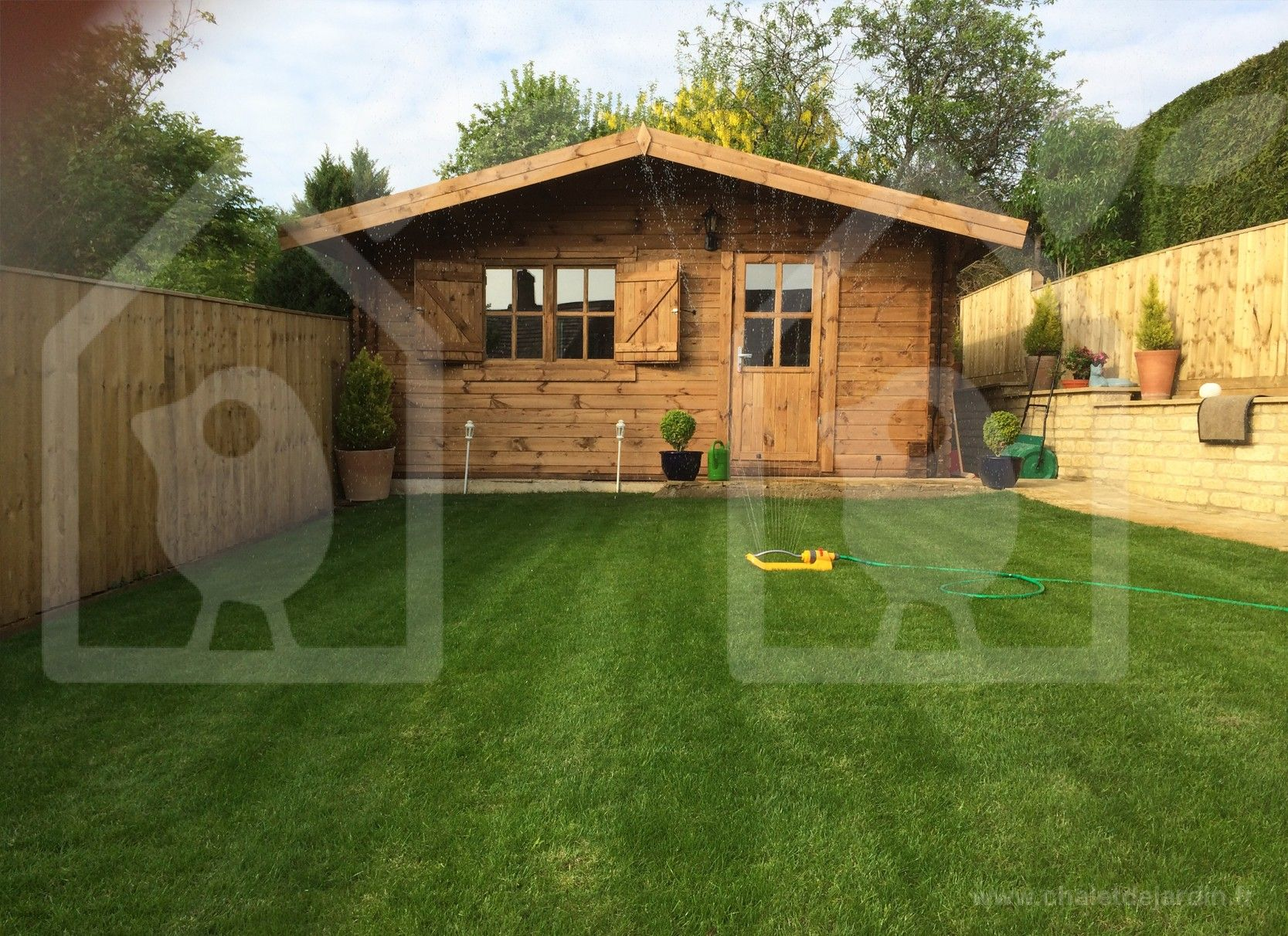 Abri de jardin NICE 36m²(6x6) 44mm (Chalet) | JARDIN | Abri de ...