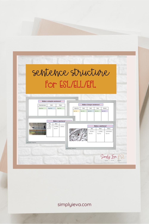 Esl Ell Sentence Structure Worksheet Google Slides Interactive In 2021 Esl Teaching Resources Esl Lesson Plans Esl Teaching [ 1500 x 1000 Pixel ]