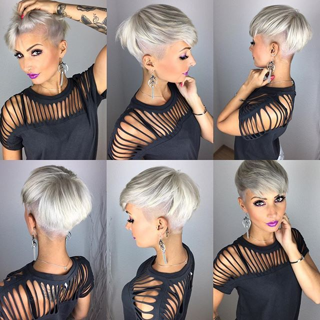 Hair Haircut Hairstyle Pixie Pixies Pixiecut Undercut Sidecut Blonde Color Silverha Hair Styles Short Hair Styles Pixie Short Hair Styles