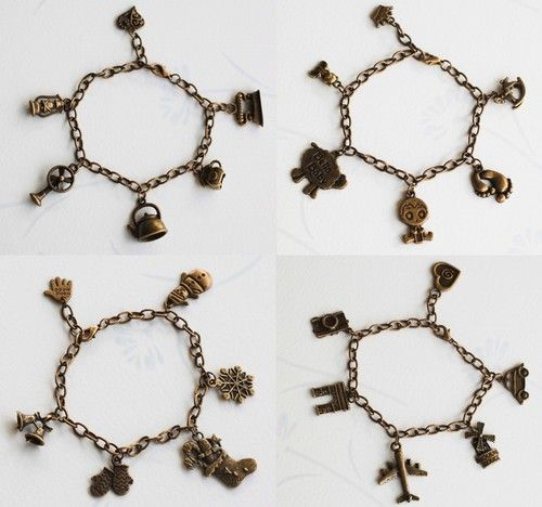 Antique Baby Christmas Holiday Vintage Charm Adjustable Handmade Bracelet