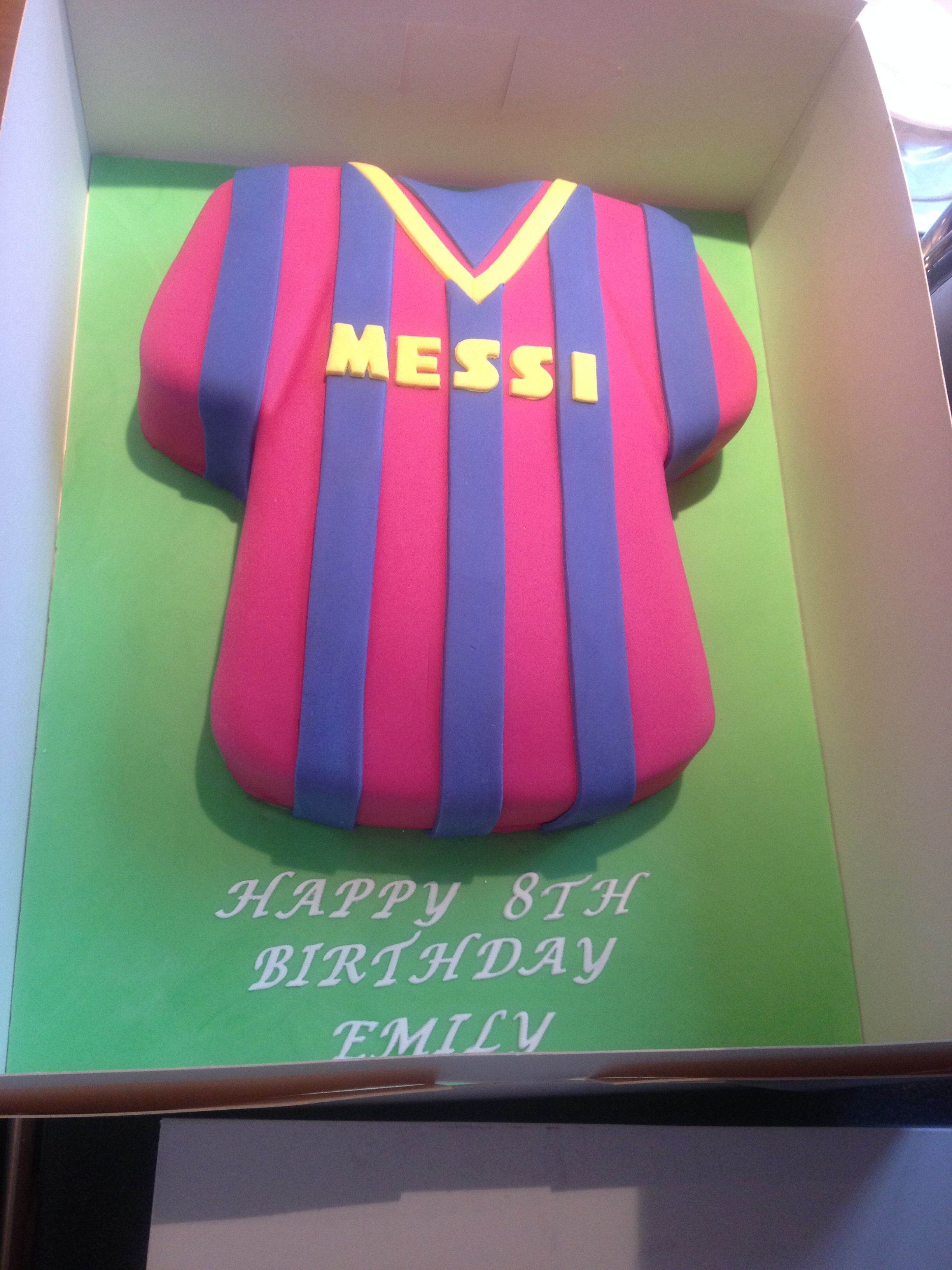 Barcelona football shirt cake shirt cake husband