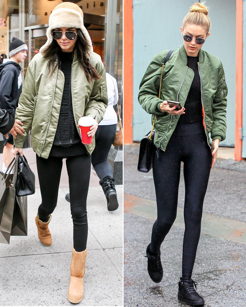 862602942d6 10+Celebrities+Prove+the+Army+Green+Bomber+Jacket +Is+the+Season s+New+Must-Have+from+InStyle.com