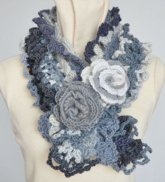 handbags and scarves crocheted super idea. I MUST learn to crochet ...