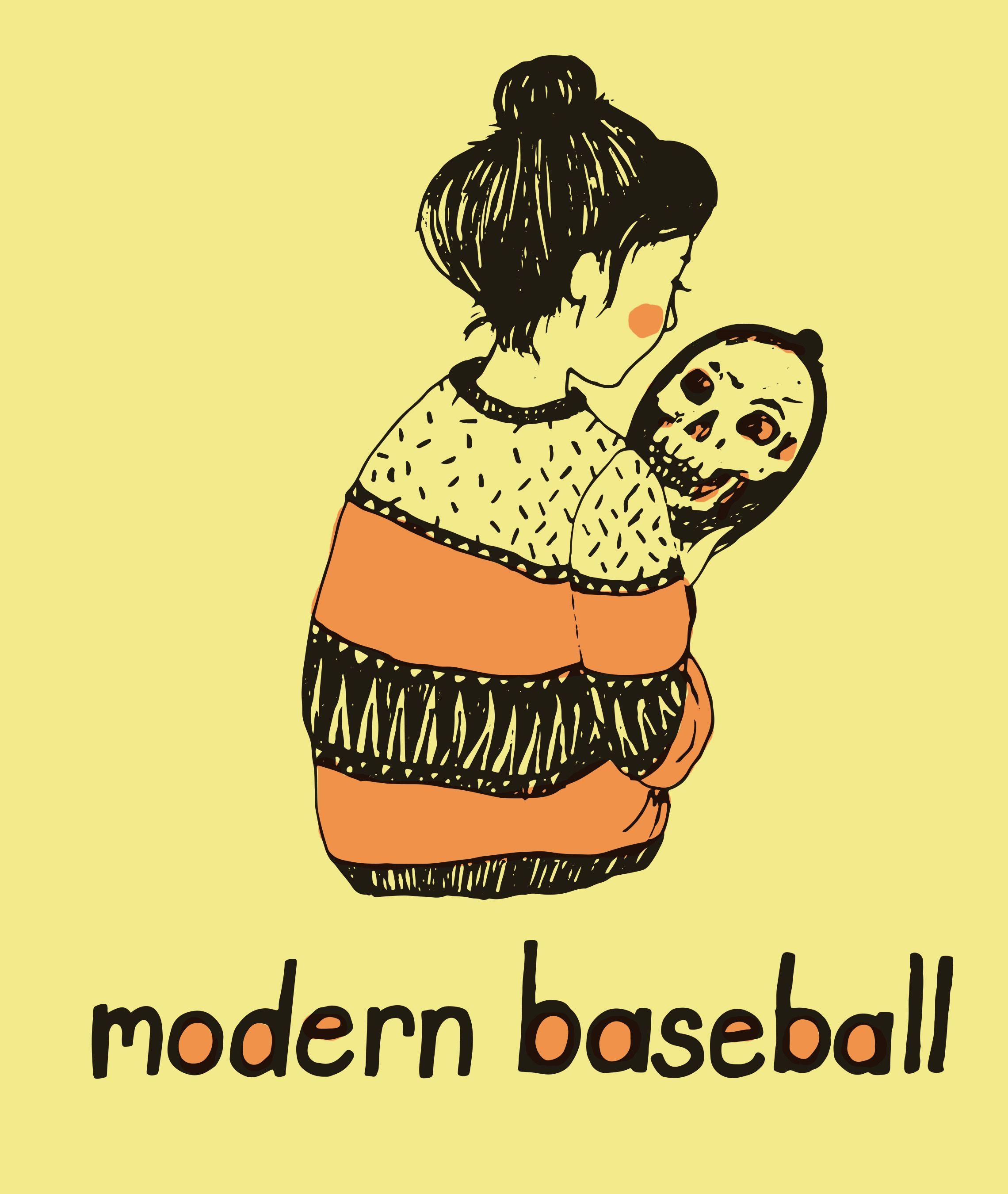 Modern Baseball Illustration Word Drawings Pop Punk Bands Musical Art