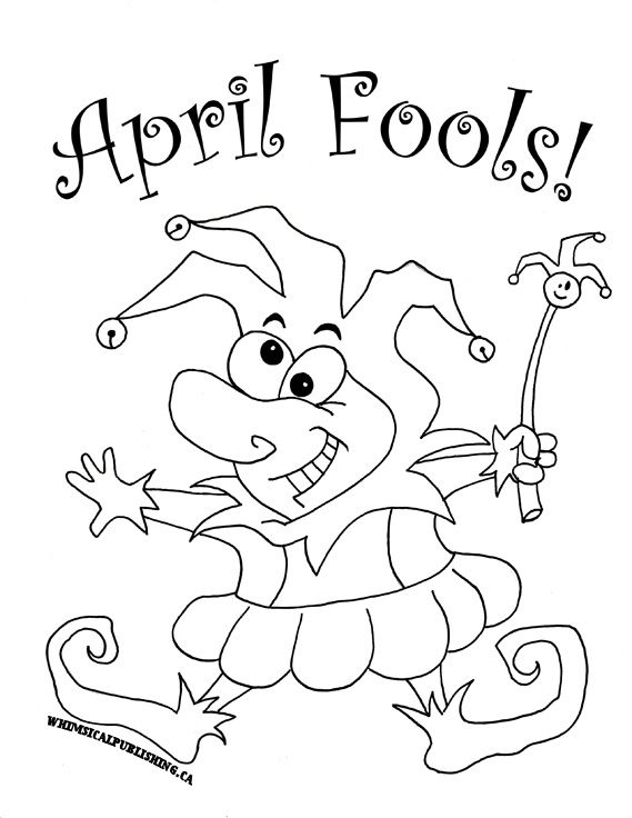 Happy April Fools Day Everyone! Coloring pages, Free