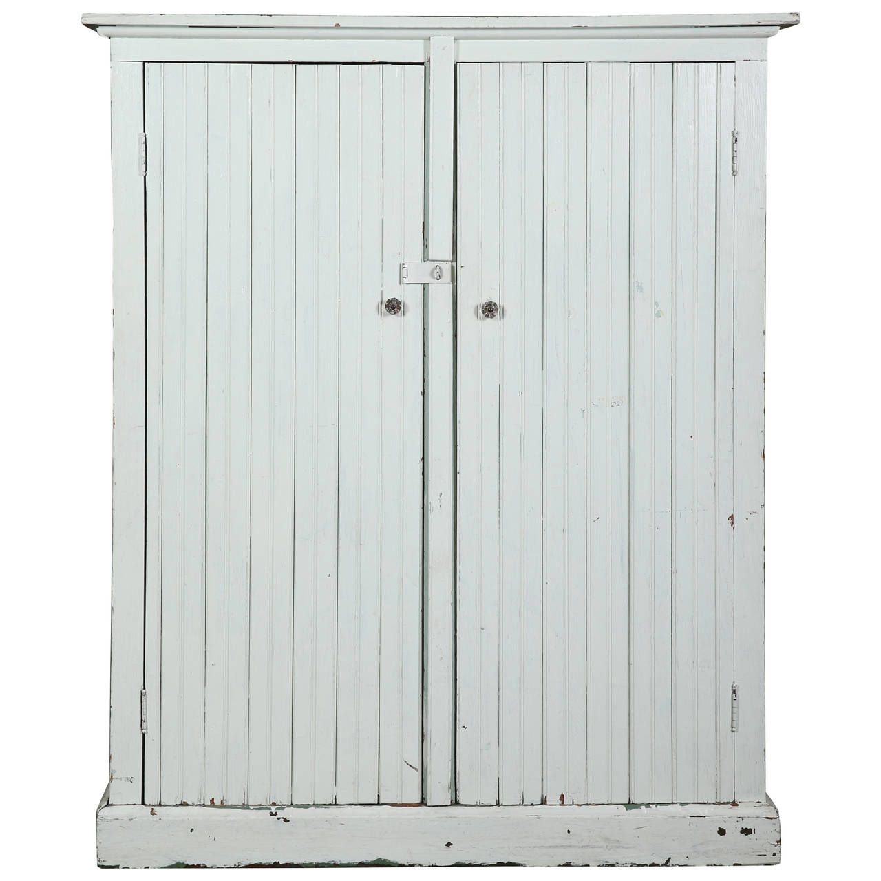 Painted Distressed Cabinet Storage Unit