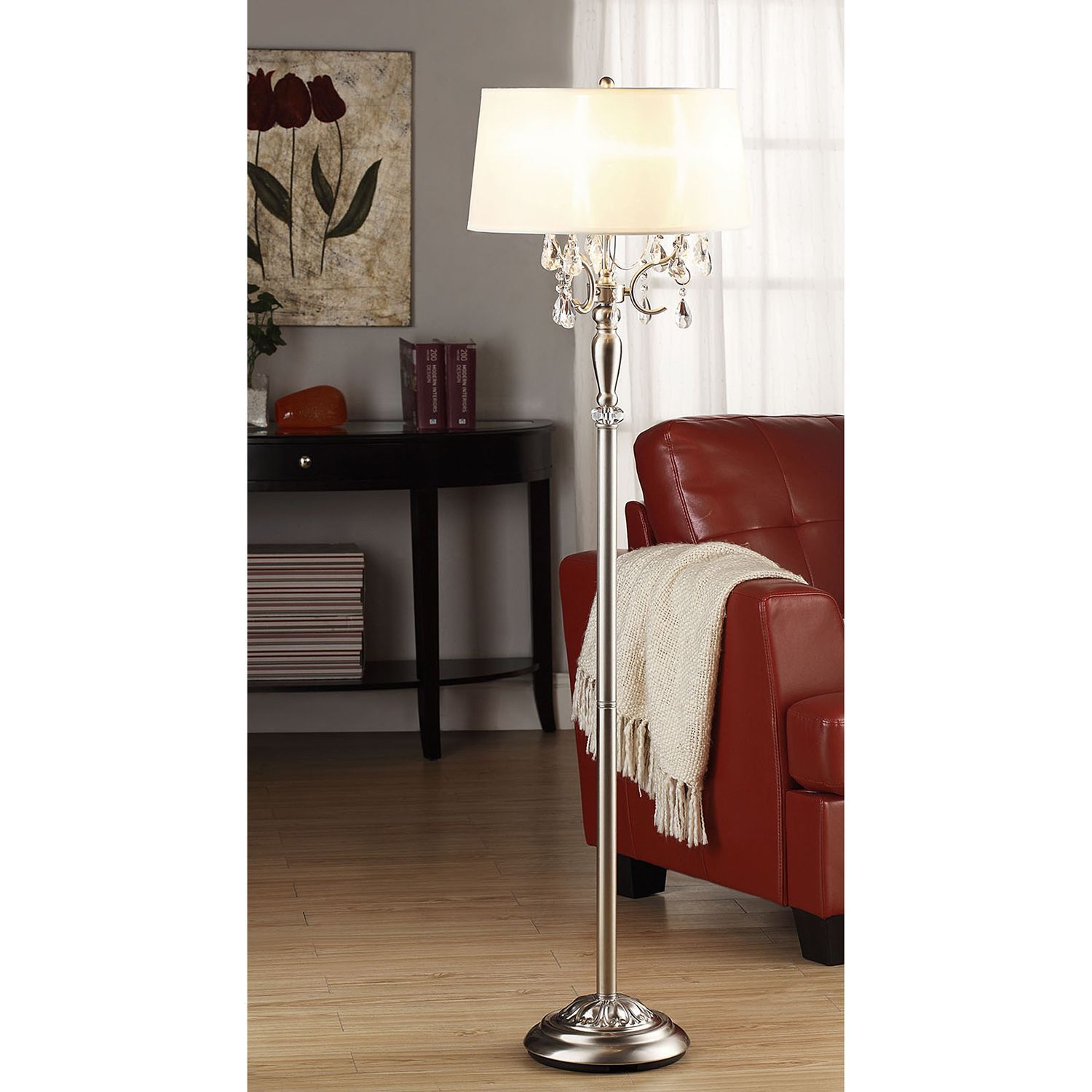 Silver Mist 1-light Crystal Chrome Floor Lamp by iNSPIRE Q Classic by  iNSPIRE Q