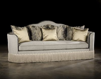 High Style Luxury Upholstered Furniture Curvy Sofa
