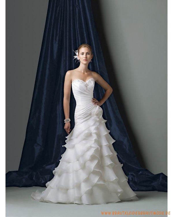 2013 neues Brautkleid aus Organsin mit herzförmigem Ausschnitt ...