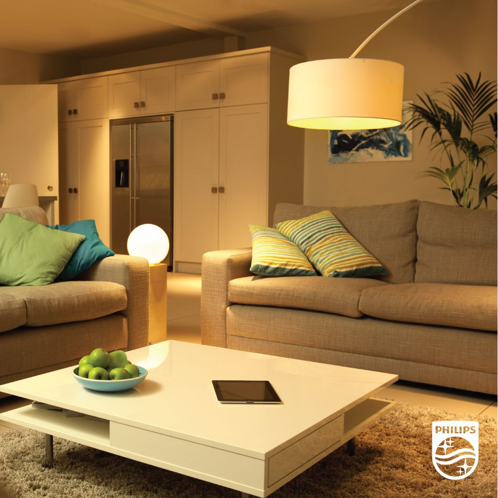 Warm Lighting Can Make An Inviting Room Even Cozier Look For Philips Led Bulbs With Warm Glow Dimmable Light Led Livi Woonideeën Huisverlichting Slim Huis
