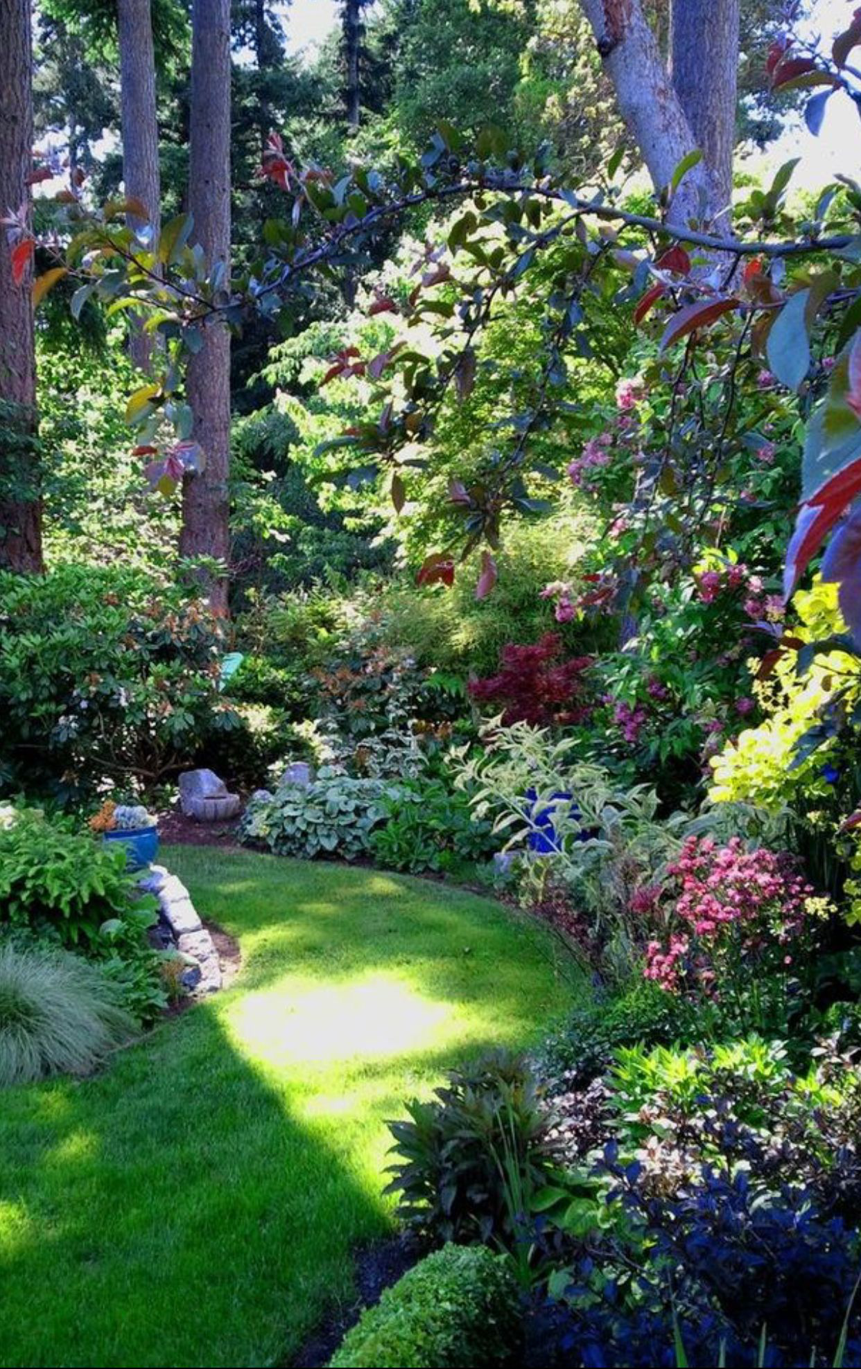 Natural Garden Edging Natural Garden Shade Garden Garden Borders