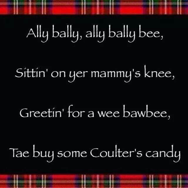 Great Wee Rhyme Scottish Proud Pinterest