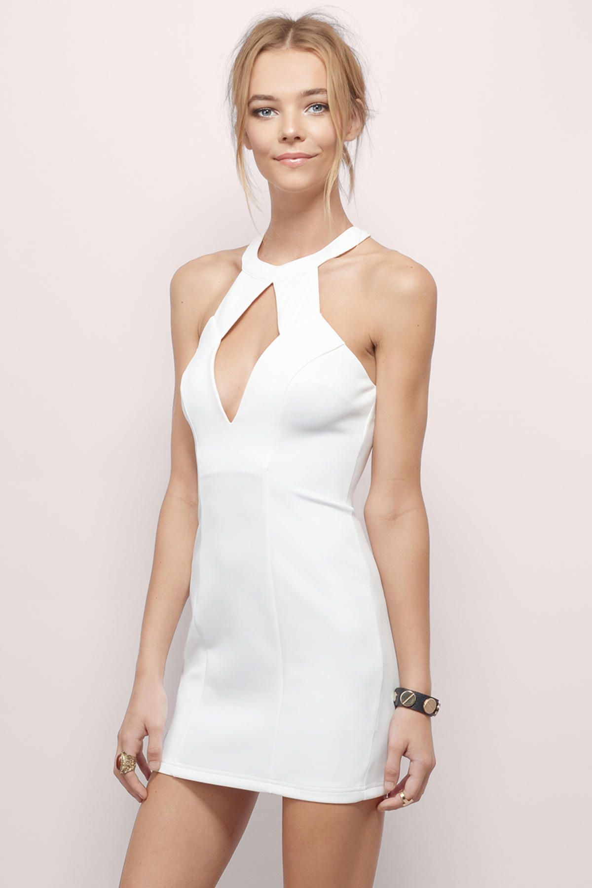 Ivory Eat Your Heart Out Mini Dress at $24 (was $62)