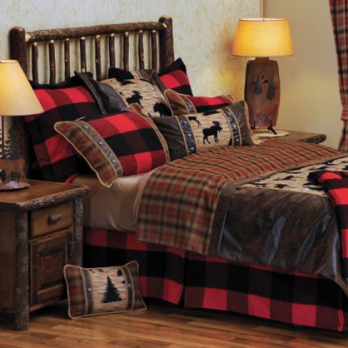 Log Bedroom Furniture Decor