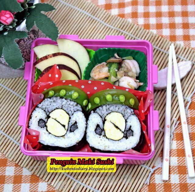 Very cute! (^-^)/ - 34件のもぐもぐ - Penguin Maki Sushi by Karenwee's Bento Diary