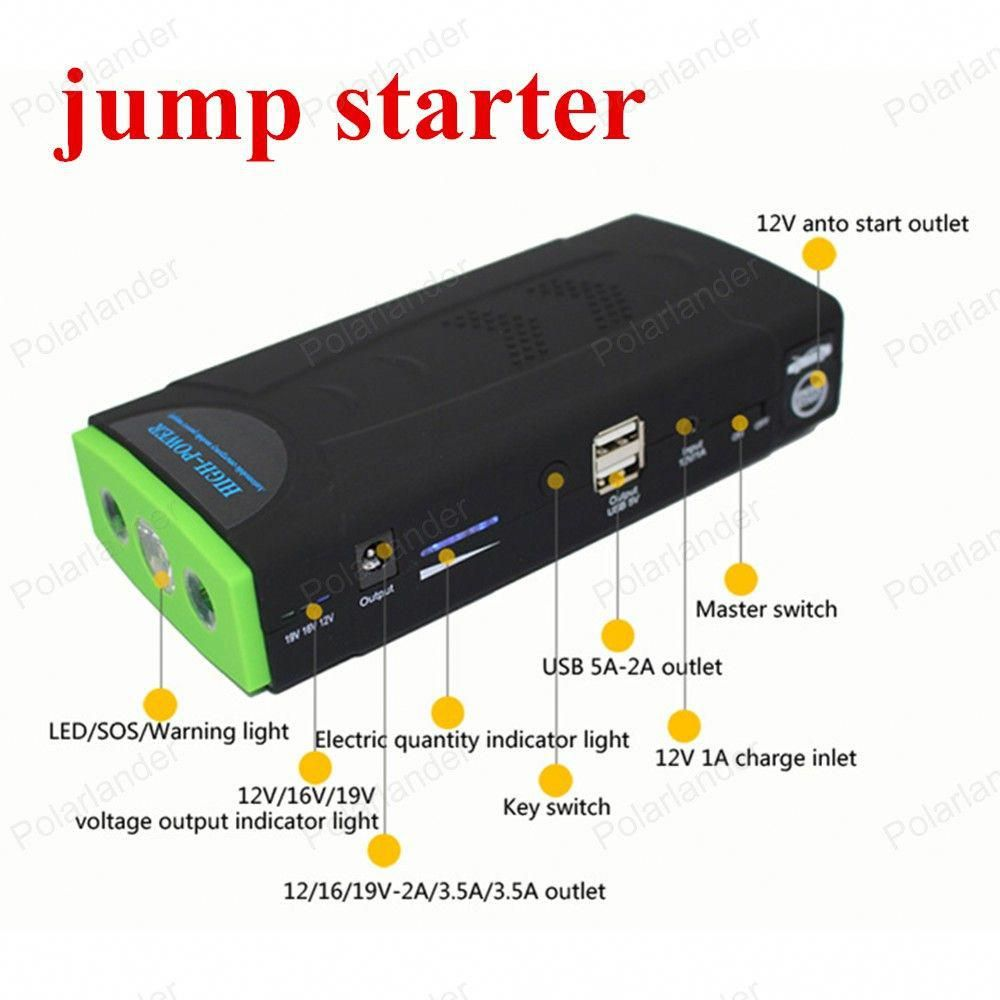 New Arrival 10000mah Multi Function Car Jump Starter Battery Emergency Charger 12v 2usb Mobile Power Bank Sell Car Powerbank Jump A Car Battery