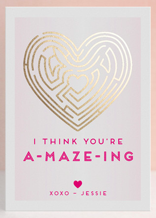 Cute a-maze-ing Valentine's Day card http://rstyle.me/n/wait2nyg6
