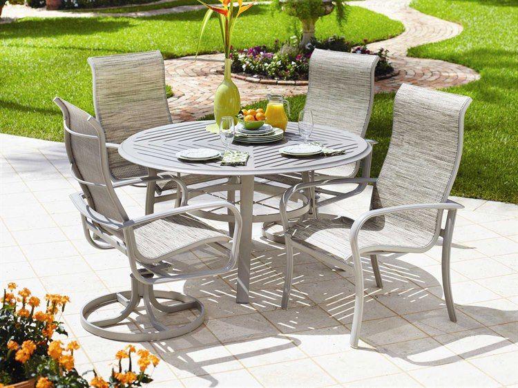 Winston Savoy Sling Aluminum Dining Set In 2021 Patio Outdoor Patio Furniture Patio Furniture