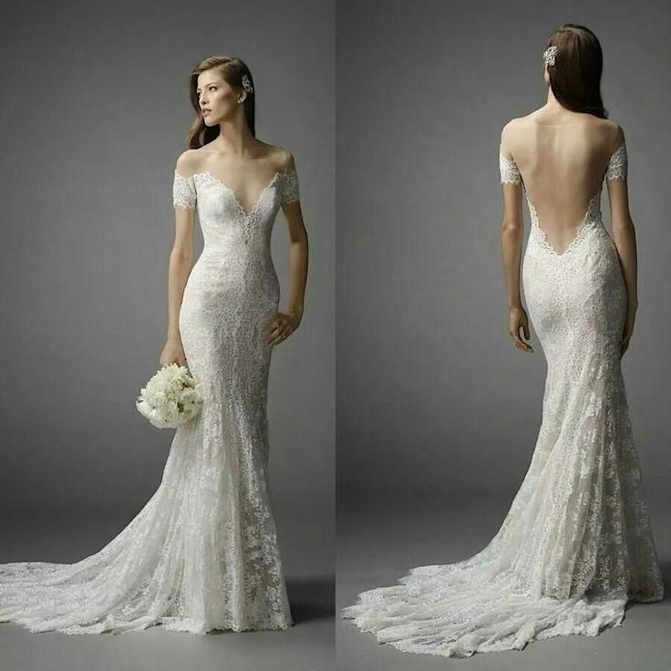 2015 Fitted Lace Wedding Dresses Sheer High Neck Off The