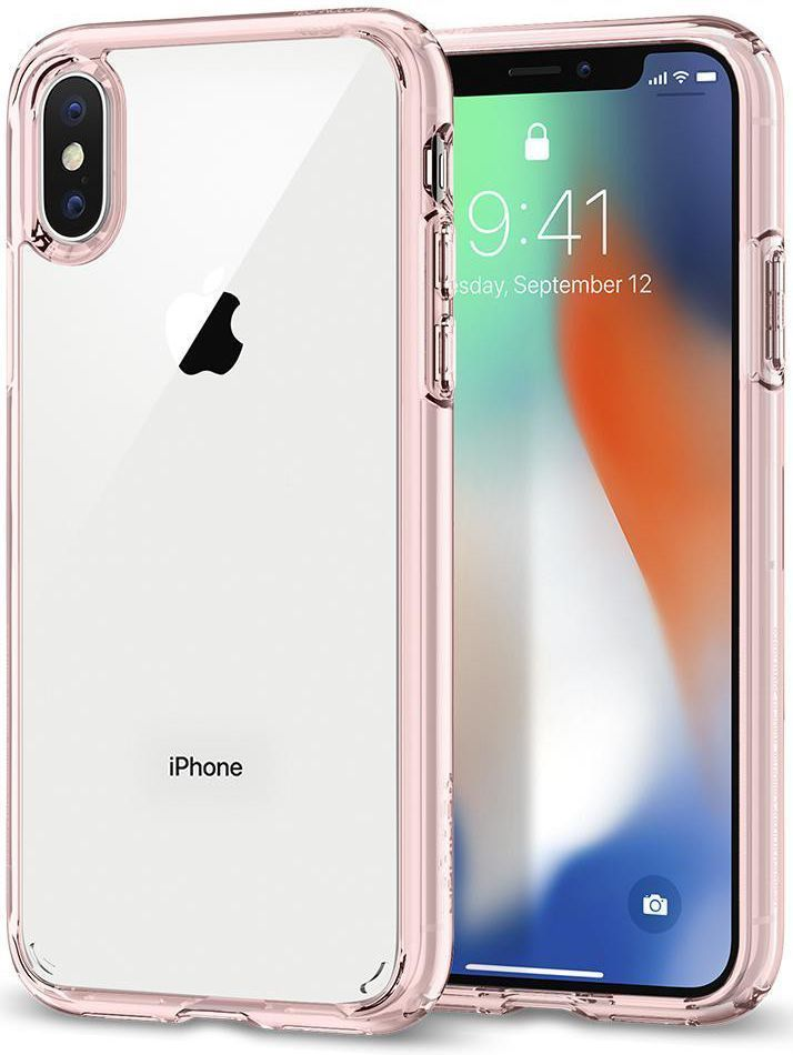 comprare on line 94d6a d97d1 Spigen Ultra Hybrid Cover for iPhone X - Pink | Clear ...