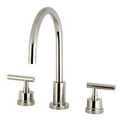 Kingston Brass Manhattan Widespread Bathroom Faucet With Drain