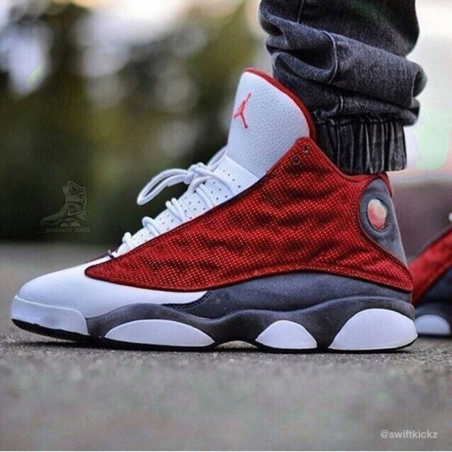 "66d4e48f9c1104 Air Jordan 13s ""Red Grey White"" ‼ 🗿🇯🇵💯👀👺 Like and Reblog if you like  these Air Jordan 13s Follow  kickzzondeck"