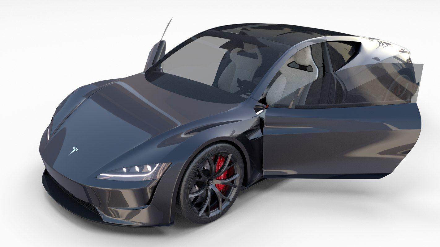 tesla roadster interior 3D   3D Cars   Tesla roadster