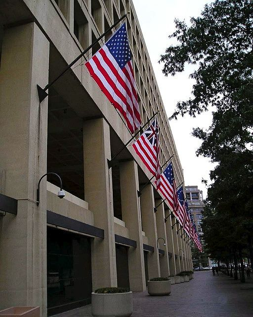 Array Of Historic American Flags Displayed On The Side Of The J Edgar Hoover Fbi Building Flag Display American Flag Dc Travel
