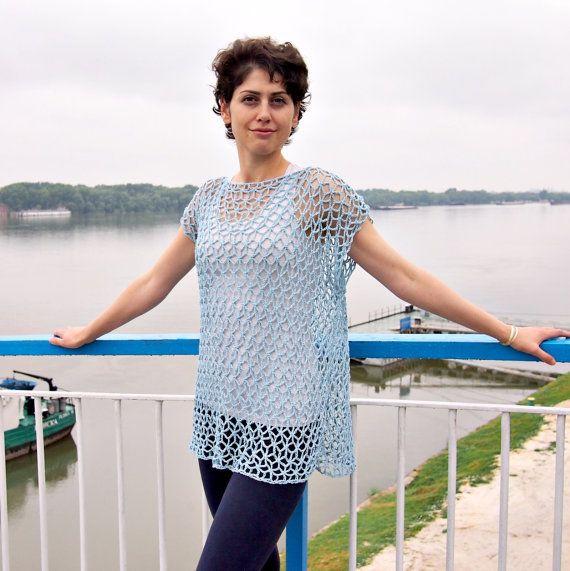 Crochet Pattern, woman lace tunic, tank top, women sweater, crochet ...